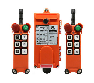 F21-E1 Double Emitters Hoist Crane Radio Wireless Remote Control AC 380V