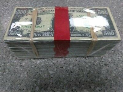 The $250,000 Highly Realistic Prop Money-replica, fake money for movie/video/gag