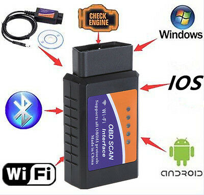 ELM327 Bluetooth WiFi USB Interface OBD2 Code Reader Auto Diagnostic Scan Tool