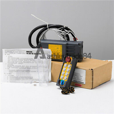 F21-E2 10 Button Single Emitter Hoist Crane Radio Wireless Remote Control AC36V