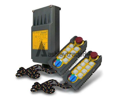 F21-E2 10 Button Double Emitter Hoist Crane Radio Wireless Remote Control AC36V