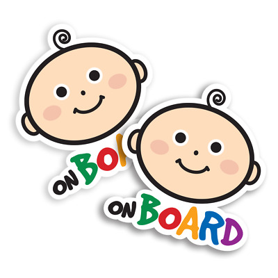 Baby on Board stickers (Standard Size 2pcs) . Premium Laminated decals
