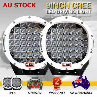 2X 9inch 99999W Cree Led Spot Work Driving Lights OFFROAD White Lights Hot Sale