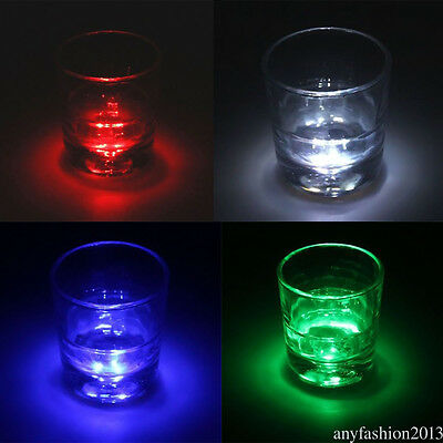 3 LED Coaster Color Changing Light Up Bottle Cup Mat For Party Bar Club FR3YN