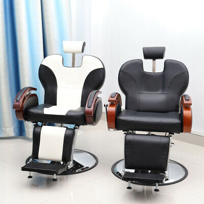 HeavyDuty Reclining Barber Chair Hydraulic Salon Beauty Spa Styling Hairdressing