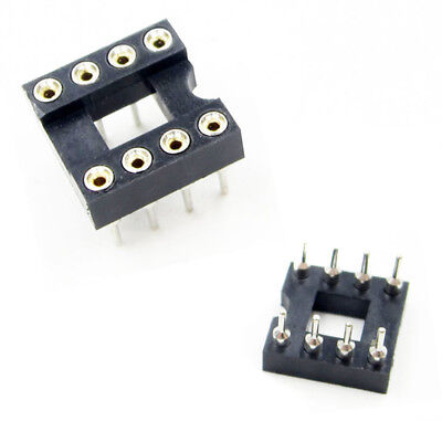 10PCS 8Pin 8 DIP SIP Round IC Sockets Adaptor Solder Type gold plated ATF