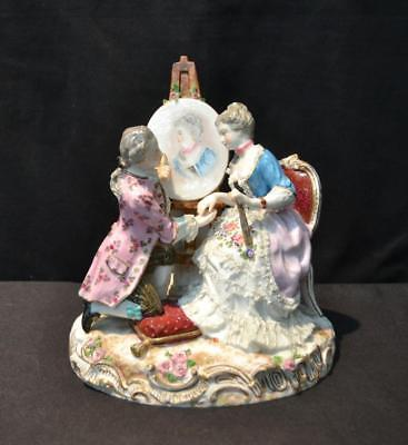 Meissen Figurine - Artist painting the woman