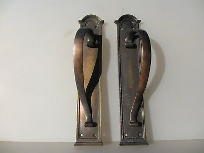 Victorian Brass Door Handles Shop Pulls Architectural Antique Copper Plated  14""