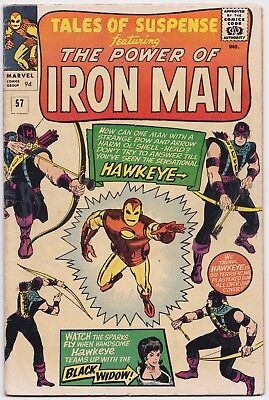 TALES OF SUSPENSE (1959) #57 - 1st Hawkeye - G+ (3.0) - Back Issue