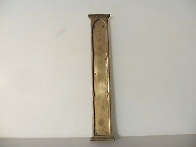 Large Antique Cast Brass Finger Plate Push Door Handle Georgian Vintage Old  14""