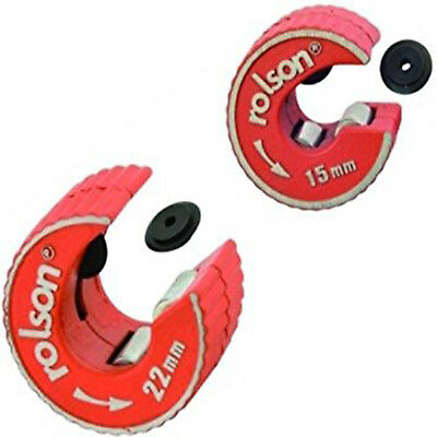 Rolson 15mm & 22mm Pipe Cutter, Self Locking, Spare Blade, Also Sold Separately!