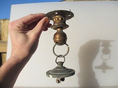 Old Brass Ceiling Light Hook Chandelier Hanger Rose Bracket Vintage Antique