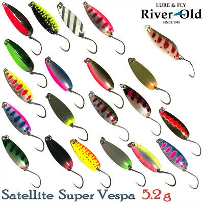 River Old Satellite Super Vespa 5.2 g Trout Spoon Assorted Colors