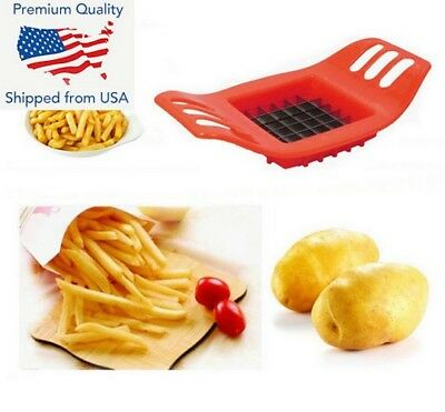 Stainless Steel French Fry Potato Chip Cut Cutter Fruit Slicer Chopper Chipper