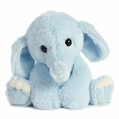 Plush Stuffed Animal Toy Cute Blue Elephant Baby Soft Gift For Kids Toddlers USA