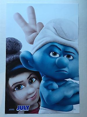 "THE SMURFS 2 ""C"" 11.5x17 PROMO D/S MOVIE POSTER"