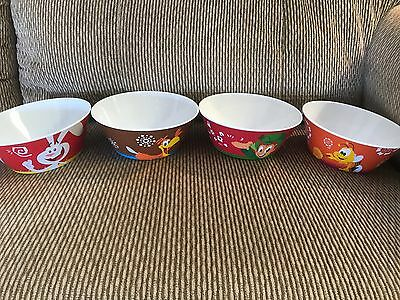 NEW General Mills 2017 Cereal Bowls LOT of 4
