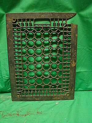 Vintage 1920S Cast Iron Heating Grate Cover Honeycomb Design 15.75 X 12 A