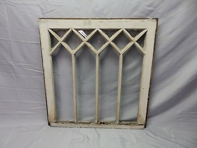 Antique Window Diamond Sash Pattern Old Shabby Cottage Chic Garden Vtg 28-18P