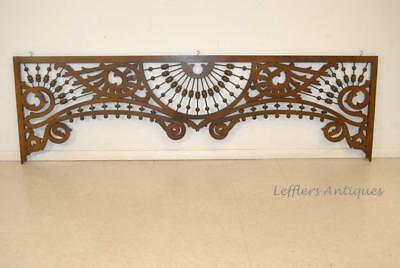 "Victorian Oak Ball And Stick Fretwork 83"" X 25"""