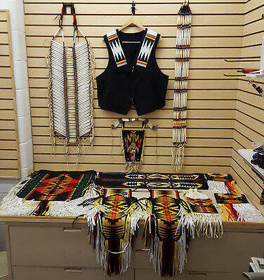 Nice Hand Crafted 13 Pc. Ribbonwork Native American Indian Traditional Dance Set
