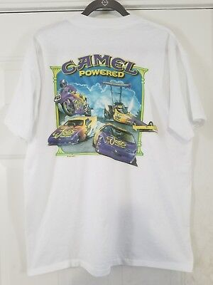 "TRUE VTG 1994 CAMEL Cigarettes ""Camel Powered"" Smokin Joes Racing T-SHIRT XL"