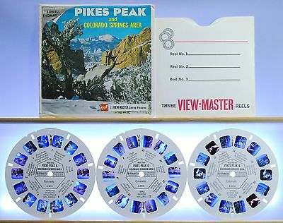 Pikes Peak and Colorado Springs Area 3-reel set A321 - GAF G1 ed. A View-Master