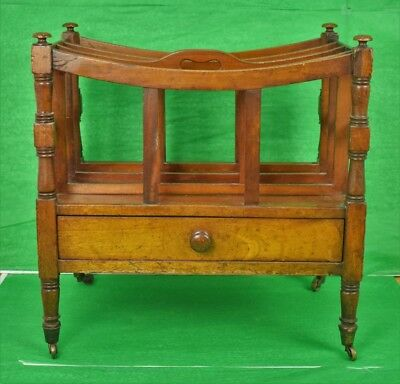 19th Century English Mahogany Canterbury Stand