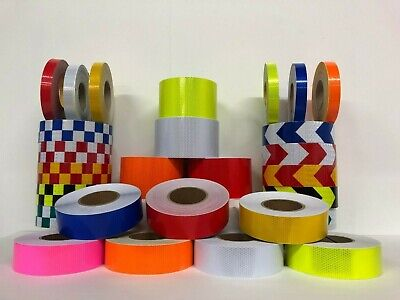 High Intensity Reflective Tape High Viz Self-Adhesive - Any Length *UK SELLER*