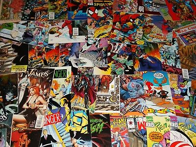 Lot of Approximately 60 Random Comics DC/Marvel/Image/Valiant/Dark Horse/+more