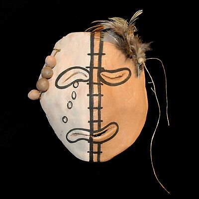 Taos Pueblo Micaceous Clay Pottery Mask by Bernadette Track