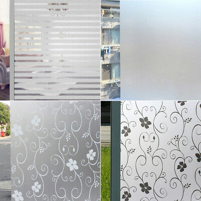 Home Bathroom Privacy Frosted Window Film Self-Adhesive Vinyl DIY Glass Sticker