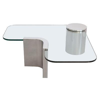 Polished Steel Chrome Cantilever Coffee Table Brueton Pace Mid Century Modern