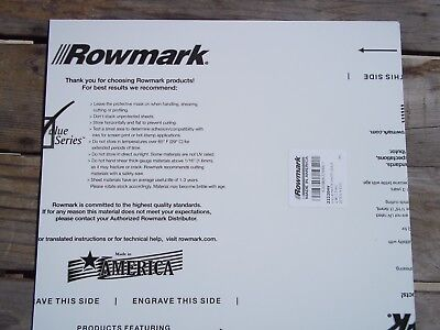 "Rotary Engravable Sheet of Rowmark Plastic Stock, white with black core 12""x12"""