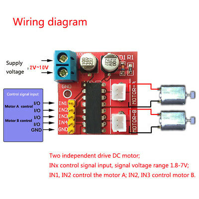 Kit 2.5A Dual Channel DC Motor Driver Mini Beyond L298N PWM Speed Control ATF