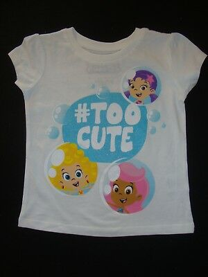 """BUBBLE GUPPIES short sleeved GRAPHIC TEE SHIRT  NWOTS  """" # TOO CUTE """""""