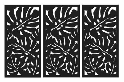 SALE Decorative Laser Cut Privacy Screen Indoor/Outdoor Wall Art 1200x600 3Pack