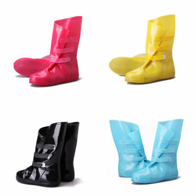 New Woman Folding Rain Boots Rubber Shoe Covers 4Colors her