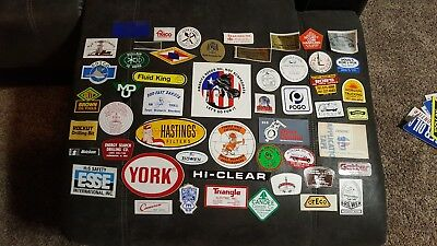 52 Vintage Oil Rig Stickers Decal Oilfield rough neck boom patch ND old school