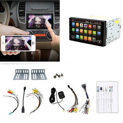 "7""Capacitive Touch Screen 2Din Car AM FM Radio Player GPS WIFI 3G 4G Mirror Link"
