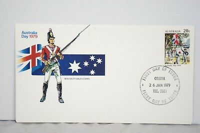 """Australia Day """"New South Wales Corps"""" 1979 Australian First Day Cover FDC Stamp"""