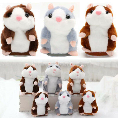 Talking Hamster Mouse Records Speech Nod Mimicry Repeat Plush Toy Kids Gift