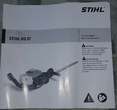 STIHL HS87 hedge trimmer owners manual - BRAND NEW!
