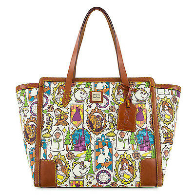 """2017 Disney Dooney & Bourke """"Beauty and the Beast"""" Large Shopper Tote Bag SEALED"""