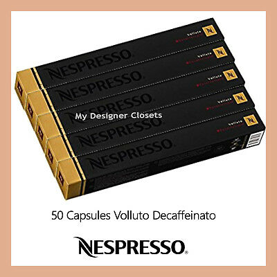 50 Capsules Nespresso Coffee Volluto Decaf Pods (Sweet n Light) Intensity 4 MDC