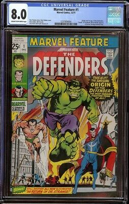 Marvel Feature # 1 CGC 8.0 CRM/OW (Marvel, 1971) 1st appearance Defenders