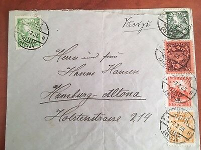 Postal History Latvia, Cover from Riga to Hamburg 1935