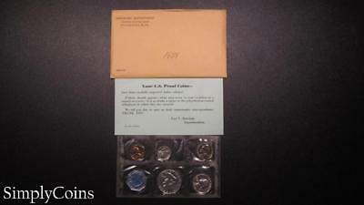 1959 Proof Set ~ Original Envelope With COA ~ US Mint Silver Coin Lot SKU-1019