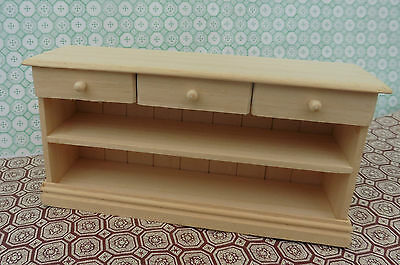 Dolls House Hand Made Miniature Furniture In 1/12 Scale Large Drawer Unit
