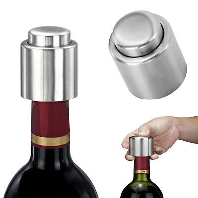 Stainless Steel Vacuum Sealed Red Wine Storage Bottle Stopper Plug champagne HQ